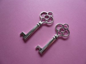 Key Charm Pendants 2PCS