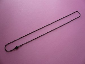 Black Ball Chain Necklace  **20 Inches**