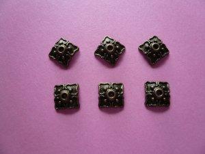 Bronze Color Metal Bead Cap 8mm