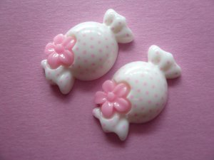 White Candy Cabochons