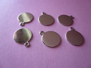 Silverplated Metal Tag for Cabochon 12mm