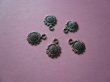 Small Sunflower Charms 10PCS