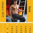 150 Custom Printed Press N Stick Small Auto Desk 2012 Calendars (Firemen) Item#V8895