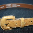 Women's light brown leather belt size Medium