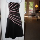 ARDEN B STRAPLESS BLACK & PINK SEMI FORMAL GOWN DRESS