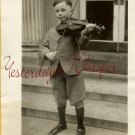 VINTAGE Child VIOLINIST Plays for COOLIDGE PHOTO