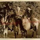 Harry CAREY Horses DONKEY Unknown Western ORG PHOTO