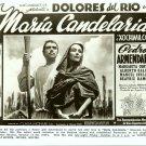 Dolores del Rio MARIA CANDELARIA Ad ART TV R PHOTO F88