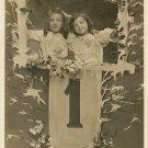 Edwardian New YEARS Children ORG c.1917 postcard P083
