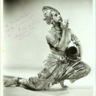 UNKNOWN India DANCER Autographed LA Org PHOTO E689