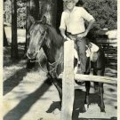 UNKNOWN Old COWBOY on Horse Org DW PHOTO E875
