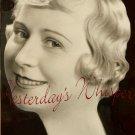 Marie LEON Soprano SINGER ORG c1934 PRESS DW PHOTO H598