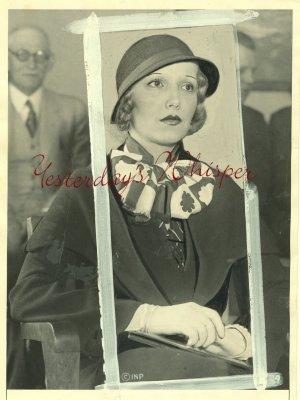 Claudia DELL Ziegfield BEAUTY Org 1932 PRESS PHOTO G646