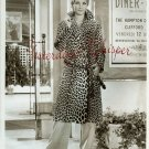 UNKNOWN Blonde ACTRESS Leopard COAT ORG  PHOTO i146