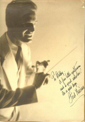 Fred Waring Hand Autographed Oversize Photo Arthur Ermates
