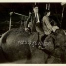 Marian Nixon Pat O'Malley Elephant Spangles c1926 Photo