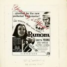 Loretta Young RAMONA Original AD ART 8x10 B&W Photo