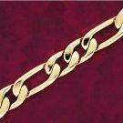 Men's 50 Mils Heavy Gold Plated 8 Inch Long 14 mm Figaro Bracelet