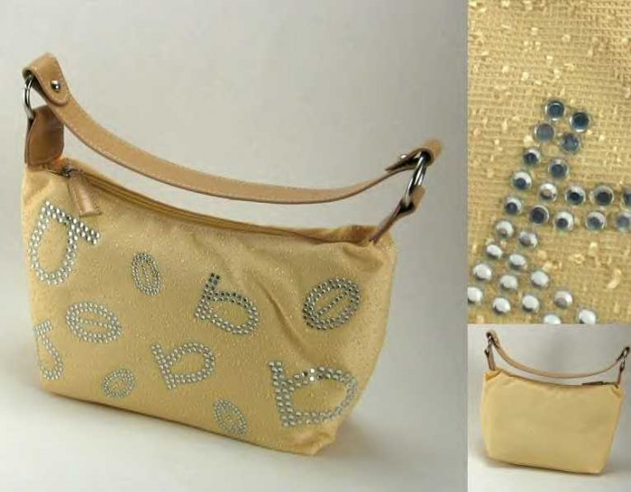 Faux Rhinestone Letters and Ring Accents -Single Strap Handbags