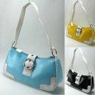 Spectator Handbags with Mock Front Buckle