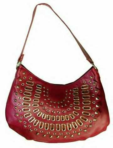 Front Studs and Grommets Design Handbag