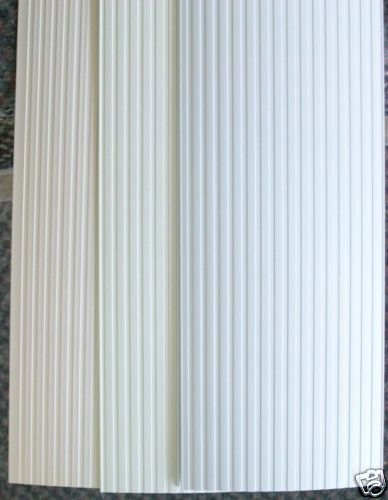 Vertical Blind Replacements Vanes Slats Ribbed Ivory Alab White