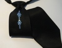 Mens Swarovski Diamond Pattern Rhinestone Tie