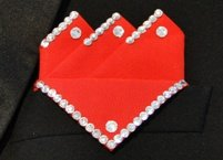 Mens Red Ballroom Dancer Pocket Squares