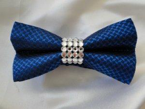 Blue Bowtie w/ Swarovski Rhinestones