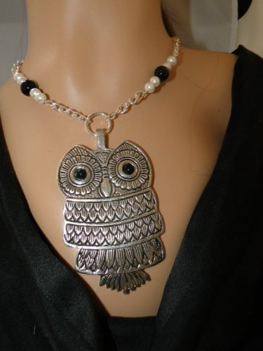 Set 27 Necklace and Earrings Large Owl