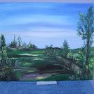 Tranquility 2010 a canvas acrylic by RWV