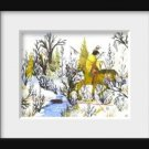 Winter Warrior an Original Water Color by RWV