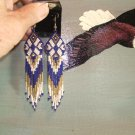 Native American Seed Beaded Regalia Earring 2011K