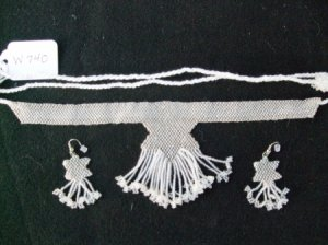 Native American Beaded Wedding Set    Item W740