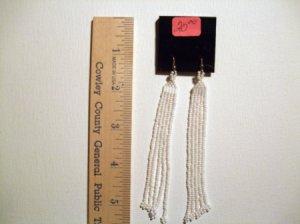 Native Long Dangle Wedding Earrings         Item W 675