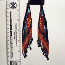Native American Bugle Bead Earrings     Item B100