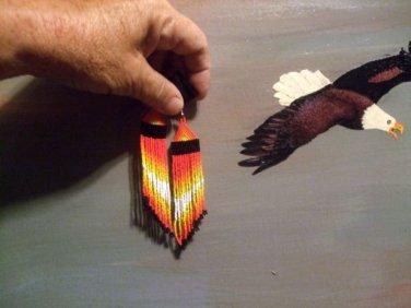 Native American Fire Drop Earrings  Item T160