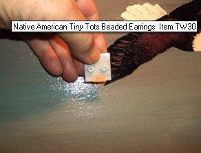 Native American Tiny Tots Beaded Earrings Item TW30