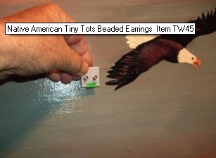 Native American Tiny Tots Beaded Earrings Item TW45