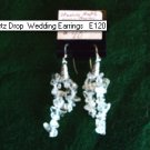 Quartz Drop Wedding Earrings E120