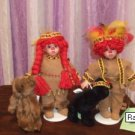 Raggedy Ann and Andy Native American Doll Set
