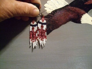 Arrow Drop Beaded Earrings Item E2150