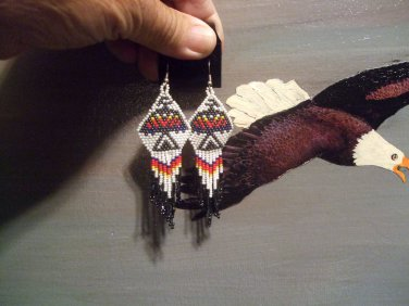Powwow Beaded Earrings Item W240