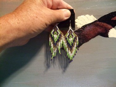 Powwow Beaded Earrings Item W270