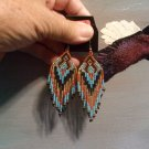 Powwow Beaded Earrings Item W260