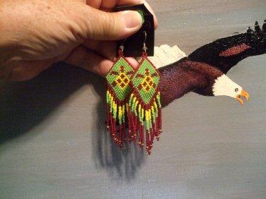 Pow Wow Turtle Regalia Earrings Item W275