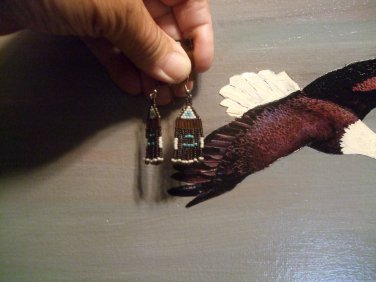Native American Beaded Earrings T110