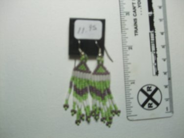 Powwow Seed Bead Earrings Item T170