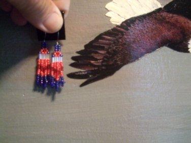 Pow Wow Beaded Earrings Item T195