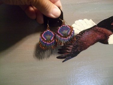 Beaded Earrings and Sterling Hooks Item T145
